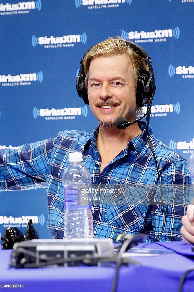Comedian David Spade attends SiriusXM at Super Bowl XLVIII Radio Row on January 31, 2014 in New York City.