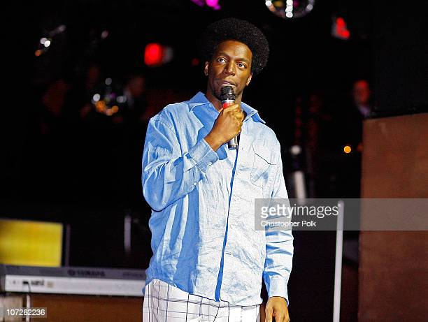Comedian Dean Edwards performs during 'Playing for Laughs' A Benefit to Build a Playground for the Junius Street Women In Need Shelter at Pacha...