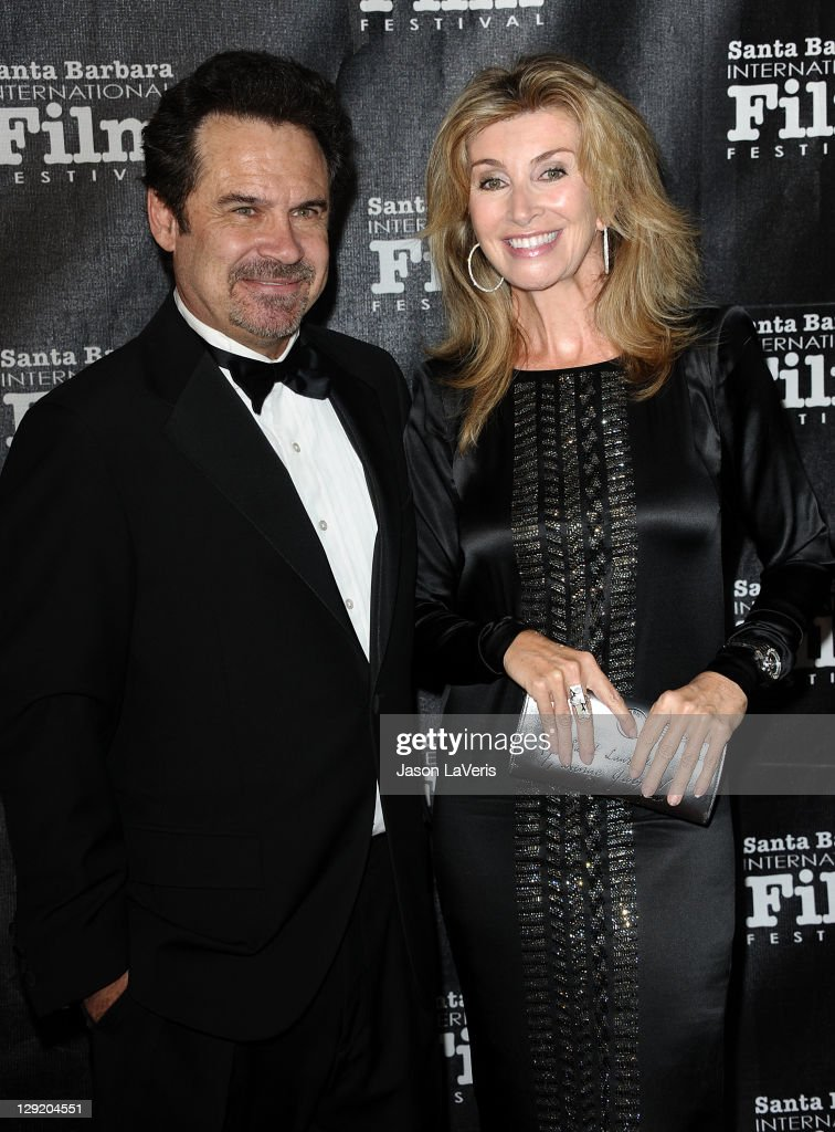 Comedian Dennis Miller and wife Carolyn Ali Espley attend Santa Barbara International Film Festival's 6th annual Kirk Douglas Award for Excellence in Film gala at The Four Seasons Biltmore on October 13, 2011 in Santa Barbara, California.