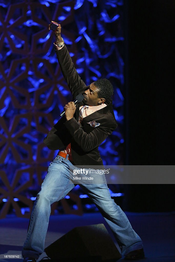 Comedian Deon Cole performs onstage during the International Myeloma Foundation's 7th Annual Comedy Celebration Benefiting The Peter Boyle Research Fund hosted by Ray Romano at The Wilshire Ebell Theatre on November 9, 2013 in Los Angeles, California.
