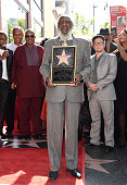 Comedian Dick Gregory attends the ceremony honoring him with a Star on the Hollywood Walk of Fame on February 2 2015 in Hollywood California