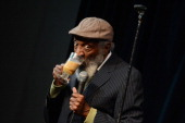 Comedian Dick Gregory performs at the Bud Light Presents Wild West Comedy Festival at Zanies on May 14 2014 in Nashville Tennessee