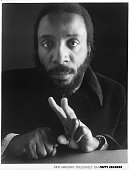 Comedian Dick Gregory poses for a Poppy Records portrait in circa 1972