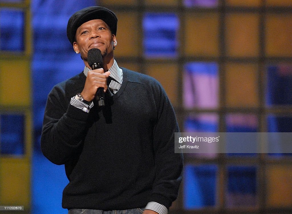 Comedian DL Hughley onstage at Comedy Central's LAST LAUGH 2007 at the Wilshire Theater on November 13 2007 in Beverly Hills California