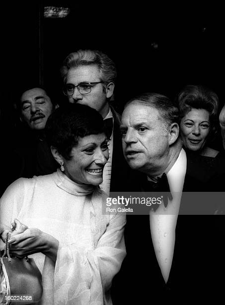 Comedian Don Rickles and wife Barbara Sklar attend Friars Club Roast Honoring Don Rickles on April 20 1974 at the Americana Hotel in New York City