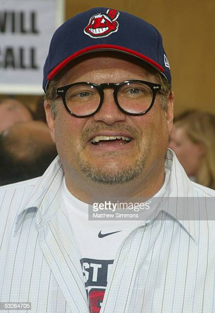Comedian Drew Carey arrives at the Los Angeles premiere of the 'The Aristocrats' at The Egyptian Theatre on July 20 2005 in Hollywood California