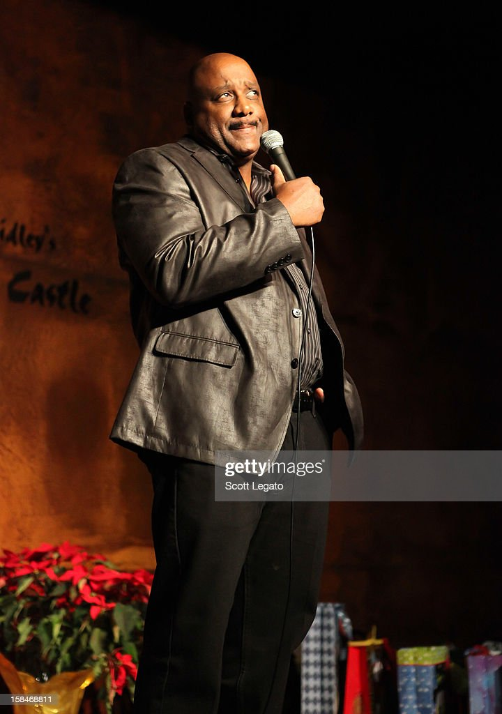 Comedian Duane Gill performs comedy show at Mark Ridley's Comedy Castle on December 14, 2012 in Royal Oak, Michigan.