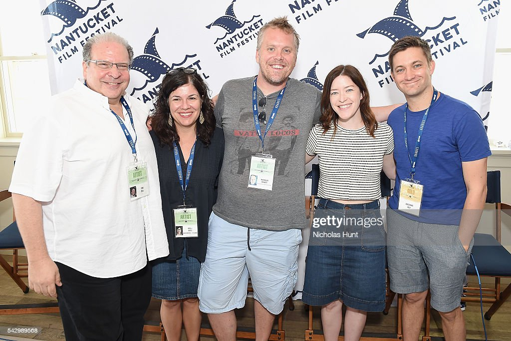 Comedian Eddie Brill, Screenwriter Annie J. Howell, Screenwriter Nicholas Schutt, Screenwriter/Director Julia Hart, and Screenwriter/Director Christopher Kelly attend Morning Coffee at the 2016 Nantucket Film Festival Day 4 on June 25, 2016 in Nantucket, Massachusetts.