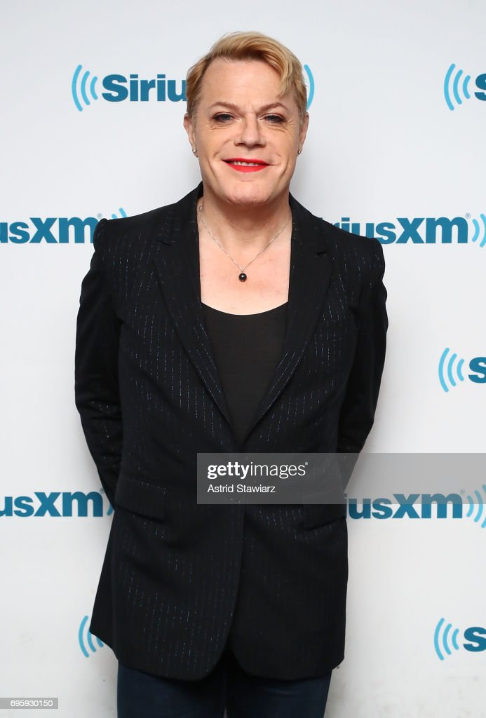 Comedian Eddie Izzard poses for photos before a SiriusXM 'Town Hall' event with SiriusXM host Ron Bennington at SiriusXM Studios on June 14, 2017 in New York City.