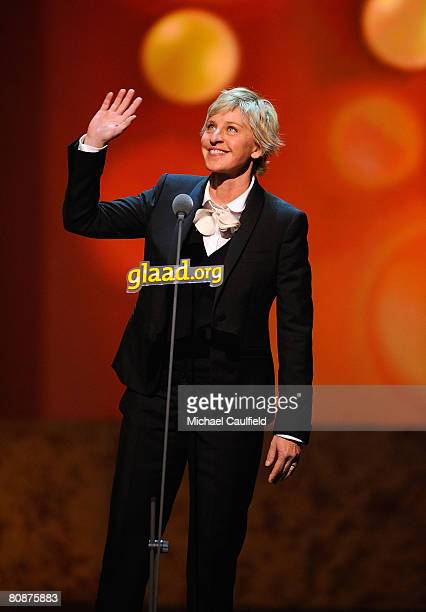 Comedian Ellen DeGeneres at the 19th Annual GLAAD Media Awards on April 25 2008 at the Kodak Theatre in Hollywood California