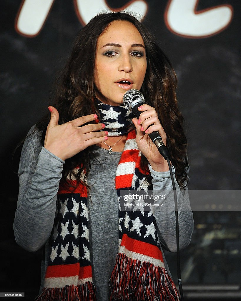 Comedian Ester-Kay Steinberg performs during her appearance at The Ice House Comedy Club on January 3, 2013 in Pasadena, California.