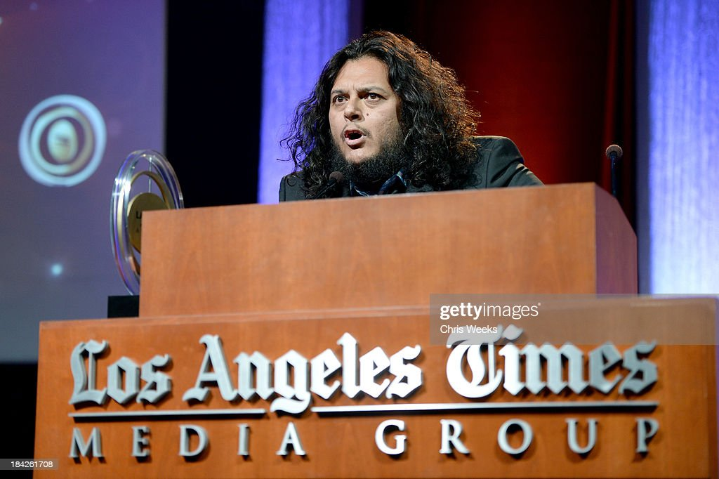Comedian Felipe Esparza onstage during the '2013 Latinos de Hoy Awards' Sponsored by OneLegacy on Saturday, October 12 at Los Angeles Times Chandler Auditorium in Los Angeles, California.