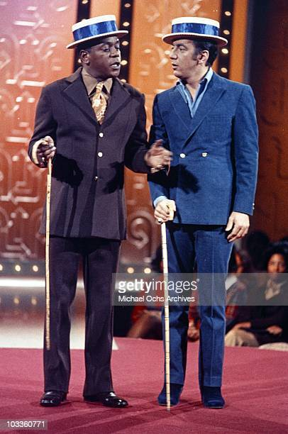 Comedian Flip Wilson in a scene from the Flip Wilson Show with entertainer Bobby Darin in circa 1972