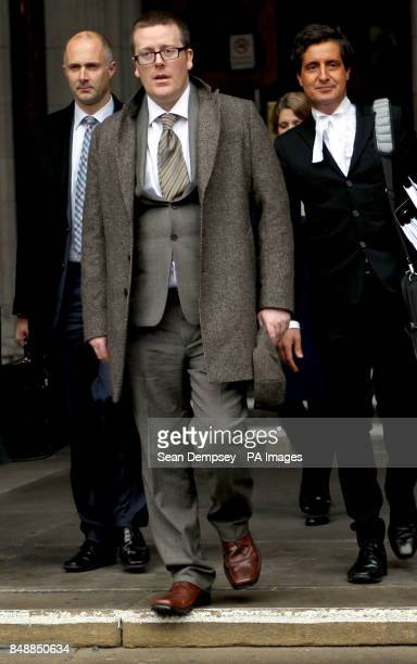 Comedian Frankie Boyle leaves the high Court after winning more than more than 54000 damages today after a High Court jury concluded that he had been...