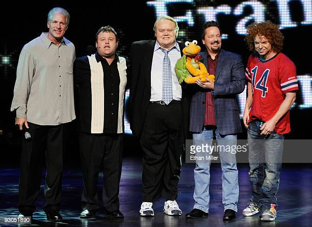 Comedian George Cantor comedian/impressionist Frank Caliendo and his fellow Las Vegas Strip performers comedian Louie Anderson comic ventriloquist...