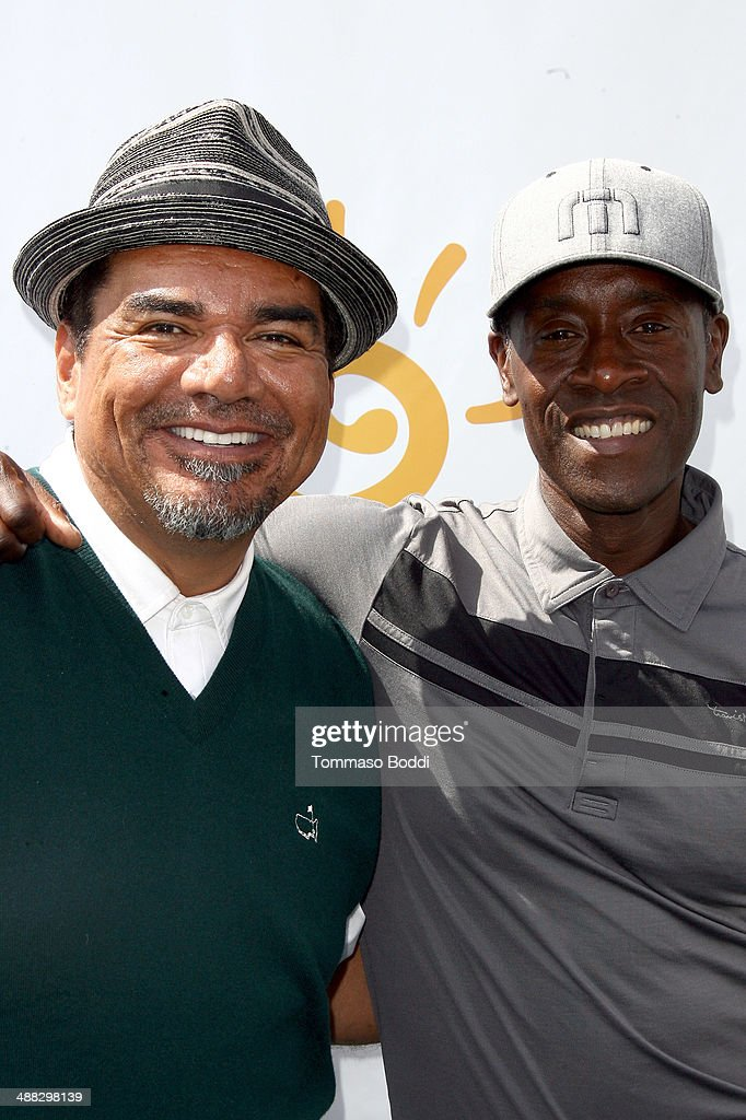 Comedian George Lopez and actor Don Cheadle attend the 7th annual George Lopez Celebrity Golf Classic presented by Sabra Salsa held at the Lakeside...