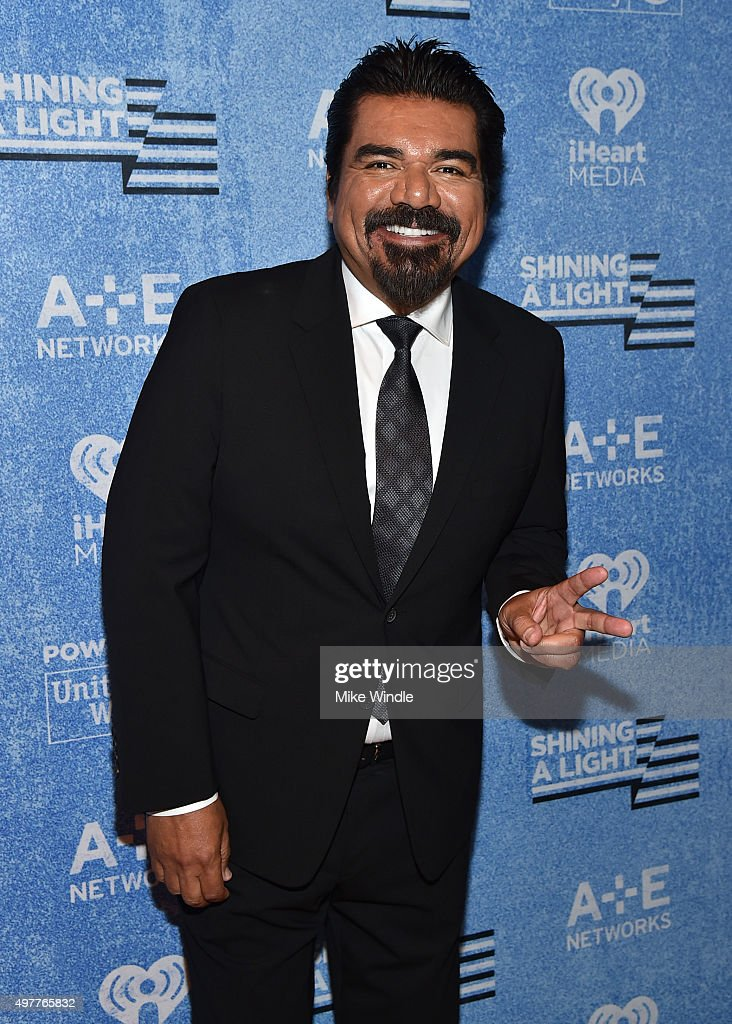 Comedian <a gi-track='captionPersonalityLinkClicked' href=/galleries/search?phrase=George+Lopez&family=editorial&specificpeople=202546 ng-click='$event.stopPropagation()'>George Lopez</a> attends A+E Networks 'Shining A Light' concert at The Shrine Auditorium on November 18, 2015 in Los Angeles, California.