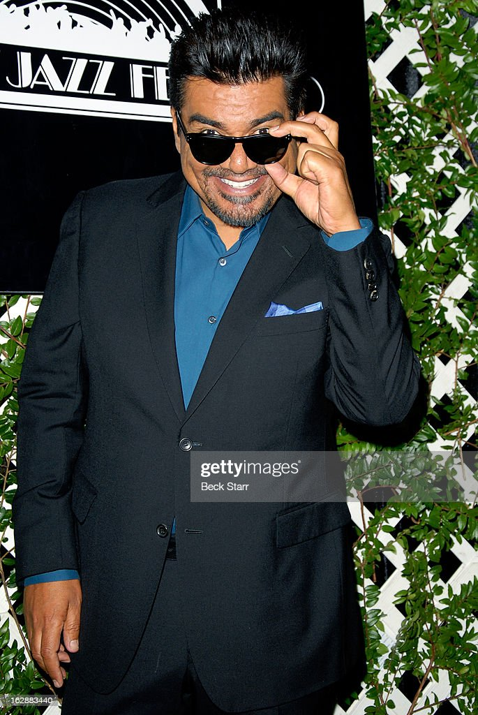 Comedian <a gi-track='captionPersonalityLinkClicked' href=/galleries/search?phrase=George+Lopez&family=editorial&specificpeople=202546 ng-click='$event.stopPropagation()'>George Lopez</a> attends the 35th Anniversary Playboy Jazz Festival press conference where he is named master of ceremonies for 2013 at The Playboy Mansion on February 28, 2013 in Beverly Hills, California.