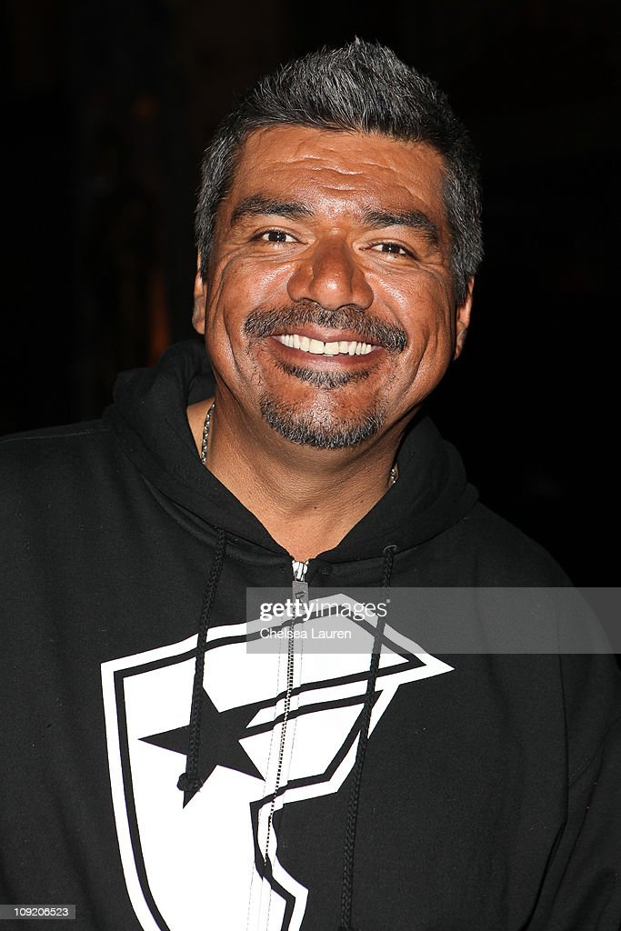 Comedian <a gi-track='captionPersonalityLinkClicked' href=/galleries/search?phrase=George+Lopez&family=editorial&specificpeople=202546 ng-click='$event.stopPropagation()'>George Lopez</a> attends the Opening Night of 'Rock of Ages' at the Pantages Theatre on February 15, 2011 in Hollywood, California.