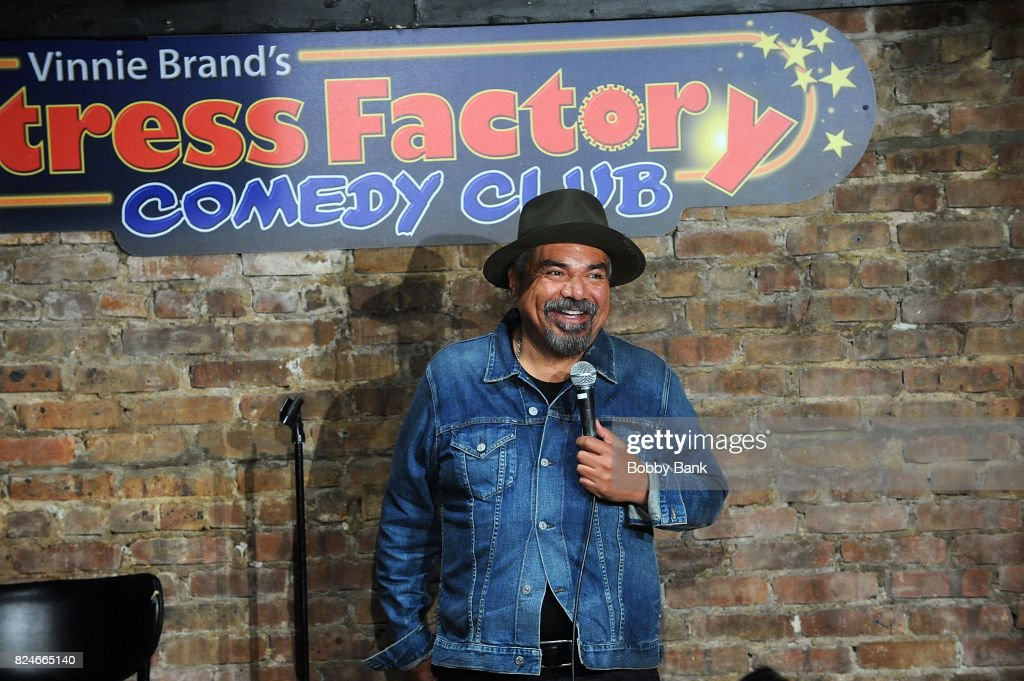 Comedian George Lopez performs at The Stress Factory Comedy Club on July 30, 2017 in New Brunswick, New Jersey.