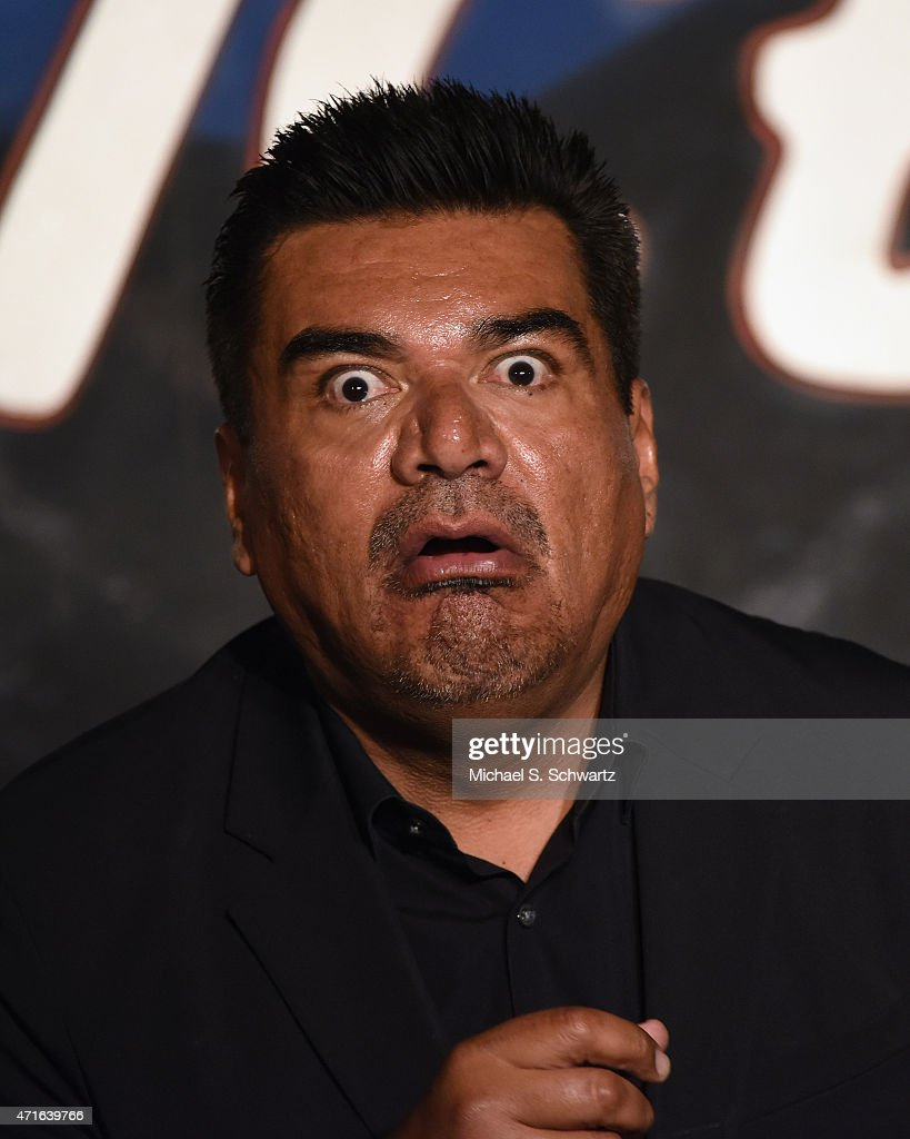 Comedian George Lopez performs during his appearance at the final Wednesday Night Funnies show at The Ice House Comedy Club on April 29 2015 in...