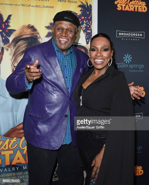Comedian George Wallace and actress Sheryl Lee Ralph arrive at the premiere of 'Just Getting Started' at ArcLight Hollywood on December 7 2017 in...