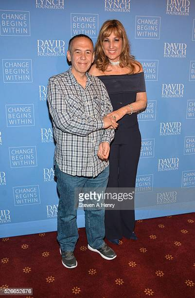Comedian Gilbert Gottfried and Producer Joanna Plafsky 'An Amazing Night Of Comedy A David Lynch Foundation Benefit For Veterans With PTSD' at New...