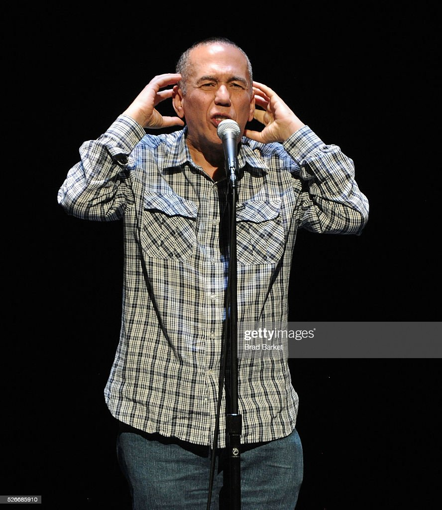 Comedian <a gi-track='captionPersonalityLinkClicked' href=/galleries/search?phrase=Gilbert+Gottfried&family=editorial&specificpeople=214732 ng-click='$event.stopPropagation()'>Gilbert Gottfried</a> attends An Amazing Night Of Comedy: A David Lynch Foundation Benefit For Veterans With PTSD at New York City Center on April 30, 2016 in New York City.