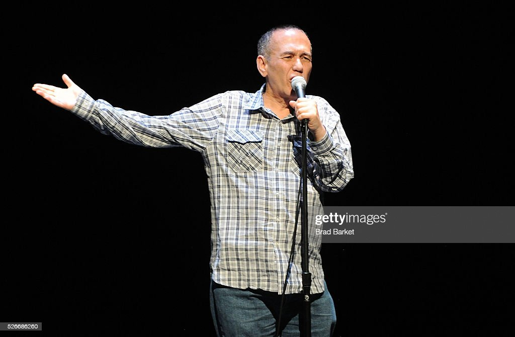 Comedian Gilbert Gottfried attends An Amazing Night Of Comedy: A David Lynch Foundation Benefit For Veterans With PTSD at New York City Center on April 30, 2016 in New York City.