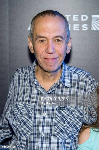 Comedian Gilbert Gottfried attends Disneynature with the Cinema Society host the premiere of 'Born in China' at Landmark Sunshine Cinema on April 8...