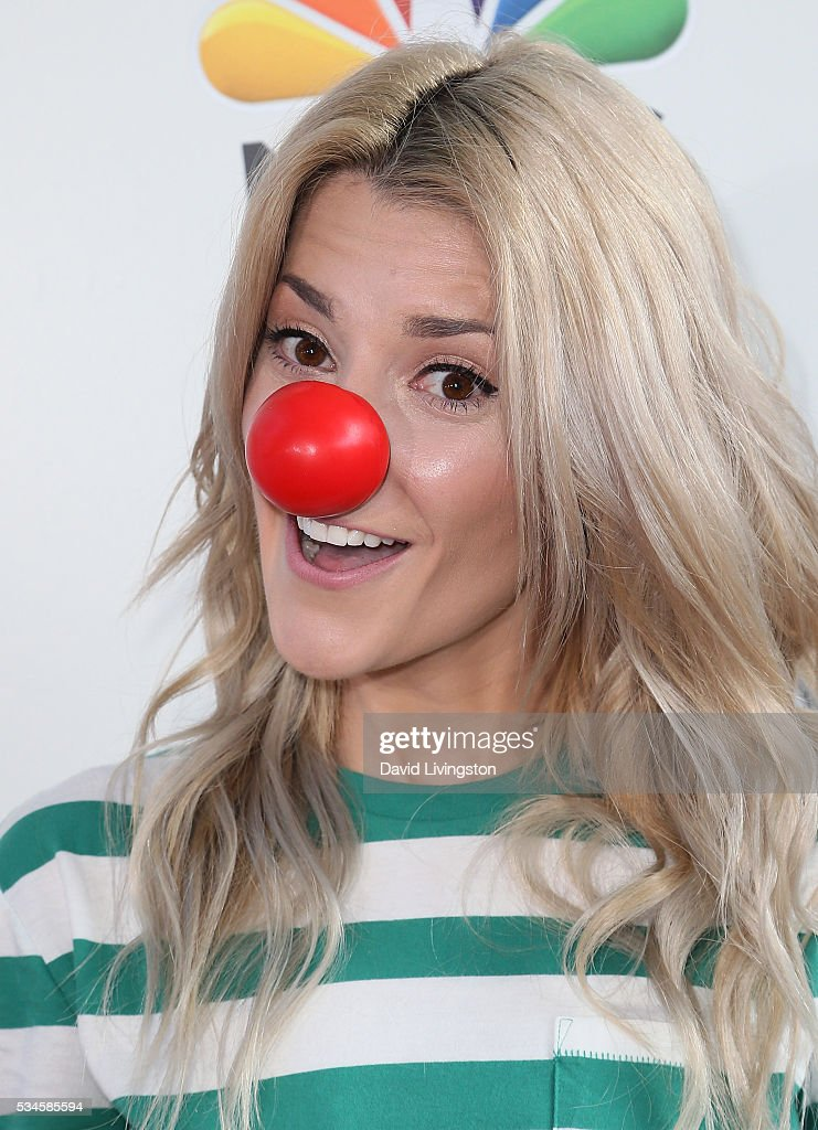 Comedian Grace Helbig attends the Red Nose Day Special on NBC at the Alfred Hitchcock Theater at Alfred Hitchcock Theater at Universal Studios on May 26, 2016 in Universal City, California.