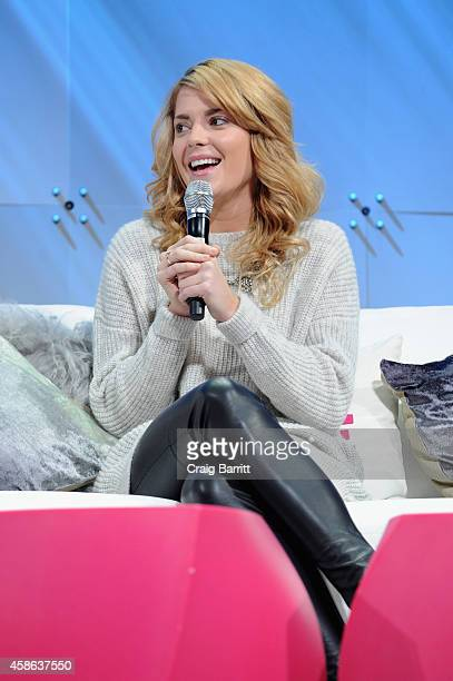 Comedian Grace Helbig speaks onstage during Cosmopolitan Magazine's Fun Fearless Life Conference powered by WME Live at The David Koch Theatre at...