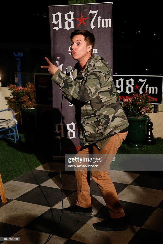 Comedian Grant Cotter performs at 98.7 FM's Penthouse Party Pad at The Historic Hollywood Tower on February 26, 2013 in Hollywood, California.