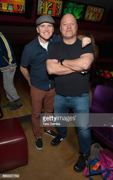 Comedian Greg Fitzsimmons and actor Michael Chiklis attend Bowling For Buddies at PINZ Bowling Entertainment Center on December 10 2017 in Studio...
