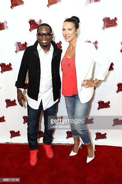 Comedian Gut Torry and Shamicka Lawrence attends the 20th Anniversary Of Phat Tuesdays at Club Nokia on September 1 2015 in Los Angeles California