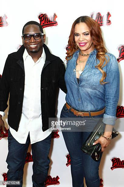 Comedian Guy Torry and recording artist Faith Evans attends the 20th Anniversary Of Phat Tuesdays at Club Nokia on September 1 2015 in Los Angeles...