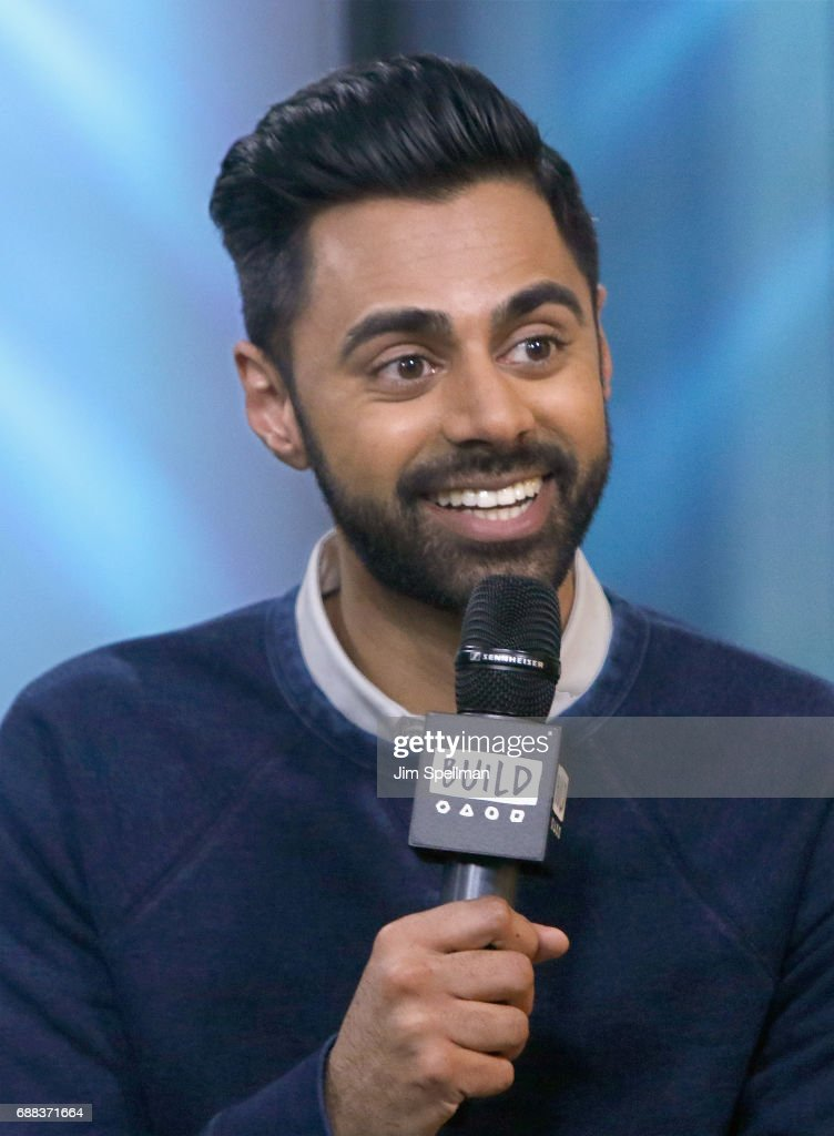 Comedian Hasan Minhaj attends Build to discuss his new Netflix special 'Hasan Minhaj: Homecoming King' at Build Studio on May 25, 2017 in New York City.