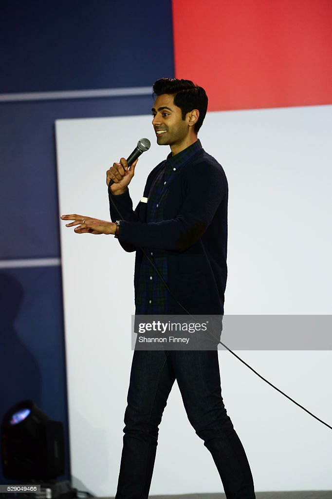 Comedian Hasan Minhaj performs at the 75th Anniversary USO Show on May 5 2016 at Joint Base Andrews in Camp Springs Maryland