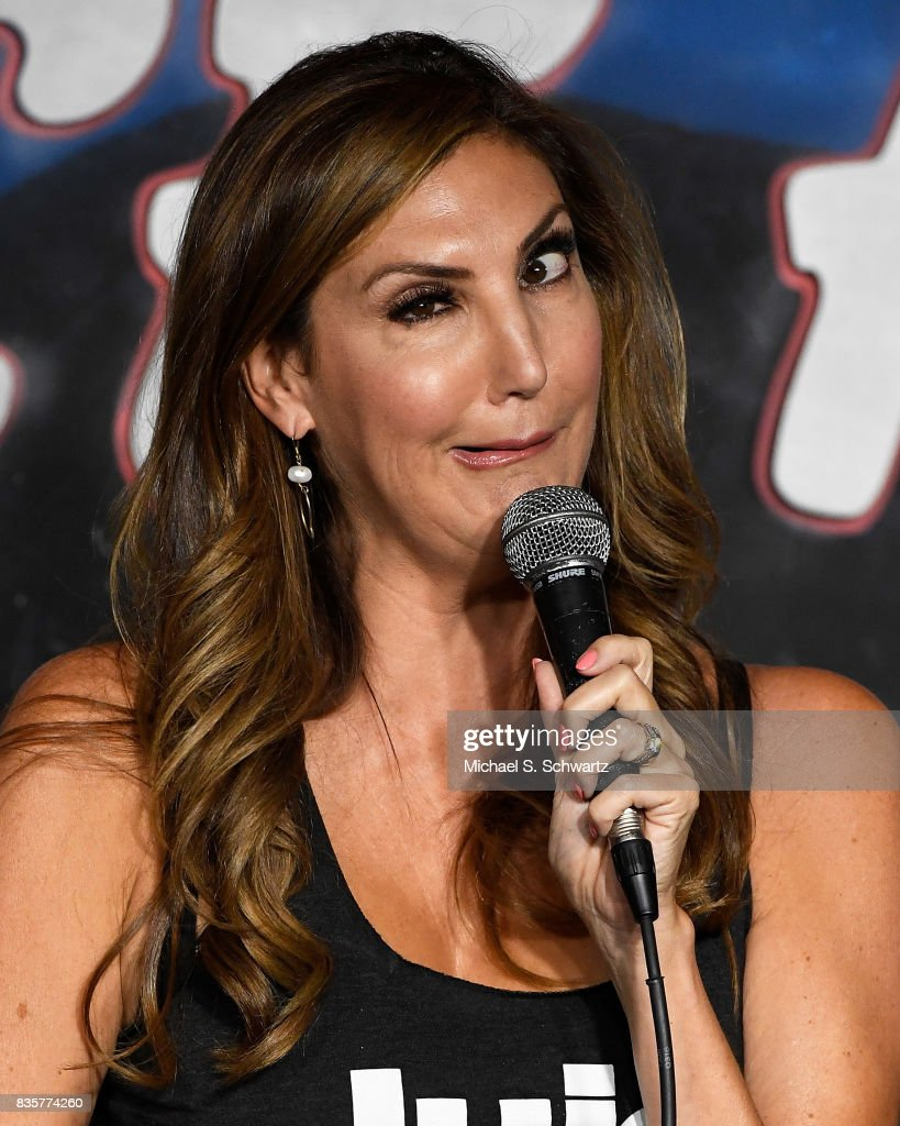 Comedian Heather McDonald performs during her appearance at The Ice House Comedy Club on August 19, 2017 in Pasadena, California.
