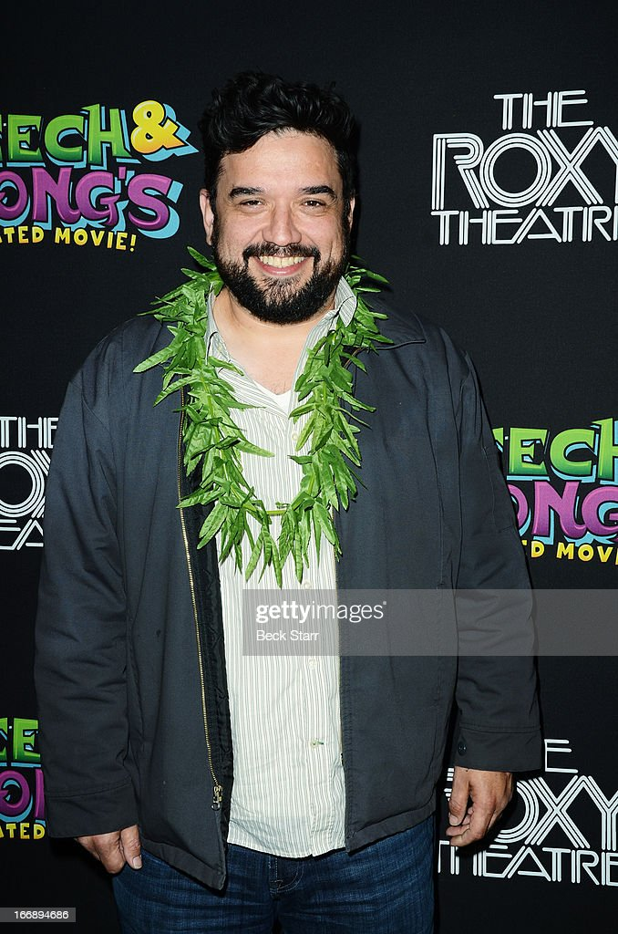 Comedian <a gi-track='captionPersonalityLinkClicked' href=/galleries/search?phrase=Horatio+Sanz&family=editorial&specificpeople=2218419 ng-click='$event.stopPropagation()'>Horatio Sanz</a> arrives at 'Cheech And Chong's Animated Movie!' VIP green carpet premiere at The Roxy Theatre on April 17, 2013 in West Hollywood, California.