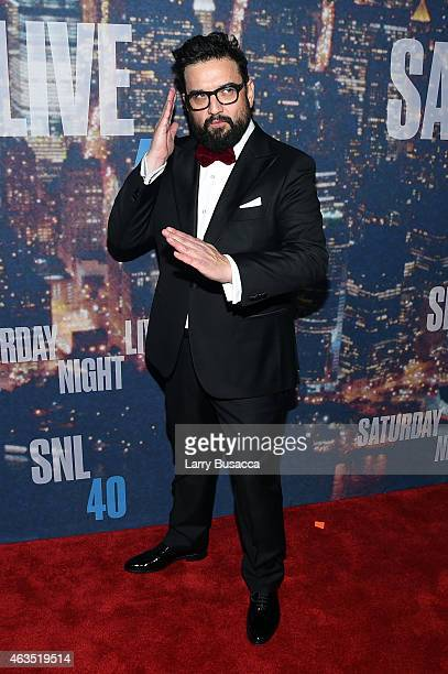 Comedian Horatio Sanz attends SNL 40th Anniversary Celebration at Rockefeller Plaza on February 15 2015 in New York City