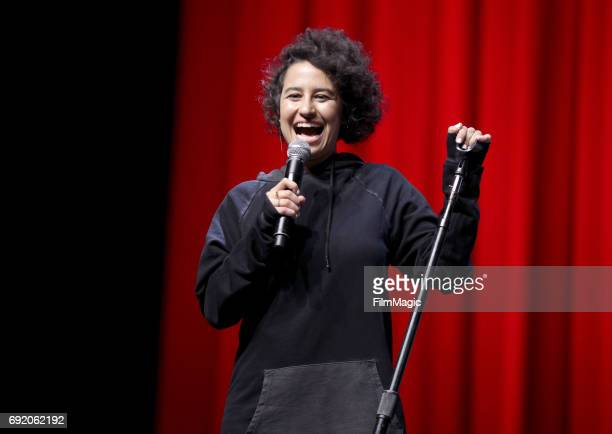 Comedian Ilana Glazer performs onstage at The Bill Graham Stage during Colossal Clusterfest at Civic Center Plaza and The Bill Graham Civic...