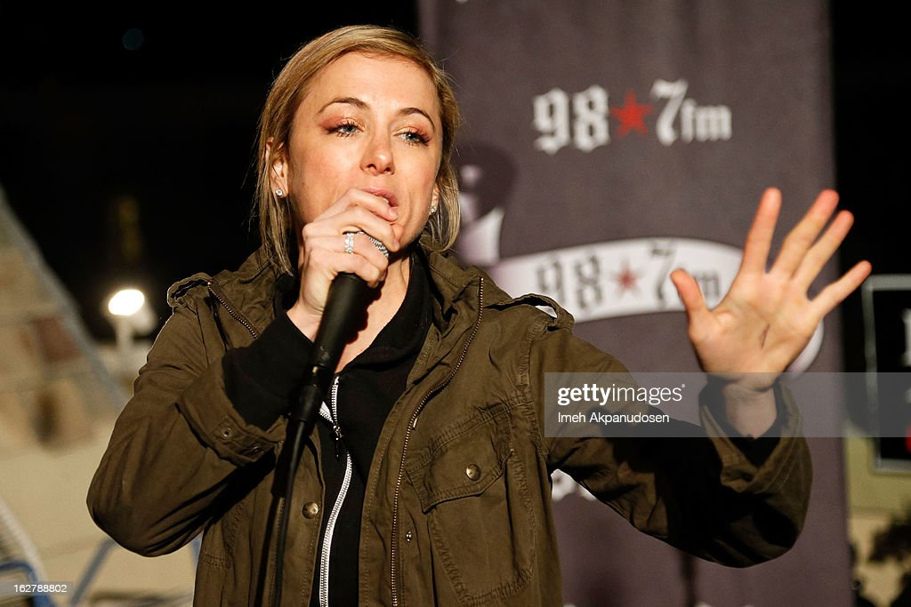 Comedian Iliza Shlesinger performs at 98.7 FM's Penthouse Party Pad at The Historic Hollywood Tower on February 26, 2013 in Hollywood, California.