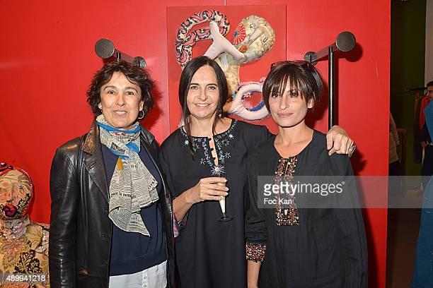 Comedian Isabelle Alonso Nathalie Garcon and Nadia Gribaa attend the Nathalie Garcon's 'Carnet de Voyages en Tunisie' at Nathalie Garcon Shop on...