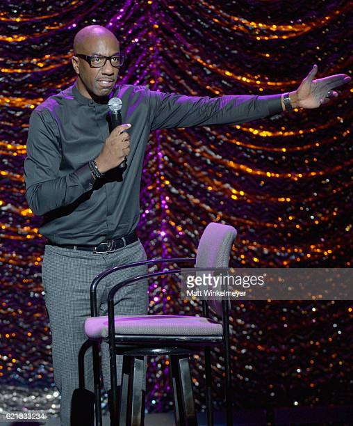 Comedian J B Smoove performs onstage during the International Myeloma Foundation 10th Annual Comedy Celebration at the Wilshire Ebell Theatre on...