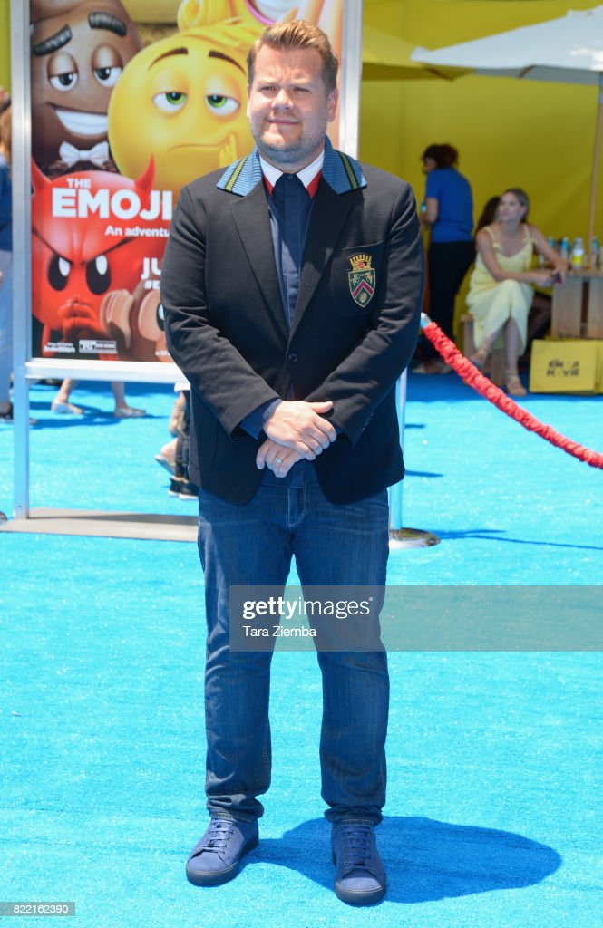 Comedian James Corden attends the premiere of Columbia Pictures and Sony Pictures Animation's 'The Emoji Movie' at Regency Village Theatre on July 23, 2017 in Westwood, California.