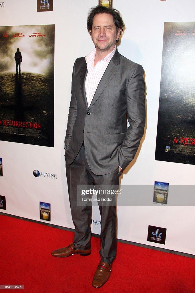 Comedian Jamie Kennedy attends the 'A Resurrection' Los Angeles premiere at ArcLight Sherman Oaks on March 19, 2013 in Sherman Oaks, California.