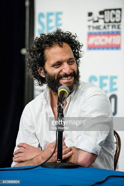 Comedian Jason Mantzoukas attends the 18th Annual Del Close Improv Comedy Marathon Press Conference at Upright Citizens Brigade Theatre on June 24...