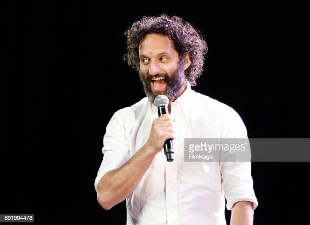 Comedian Jason Mantzoukas performs onstage at the Larkin Comedy Club during Colossal Clusterfest at Civic Center Plaza and The Bill Graham Civic...