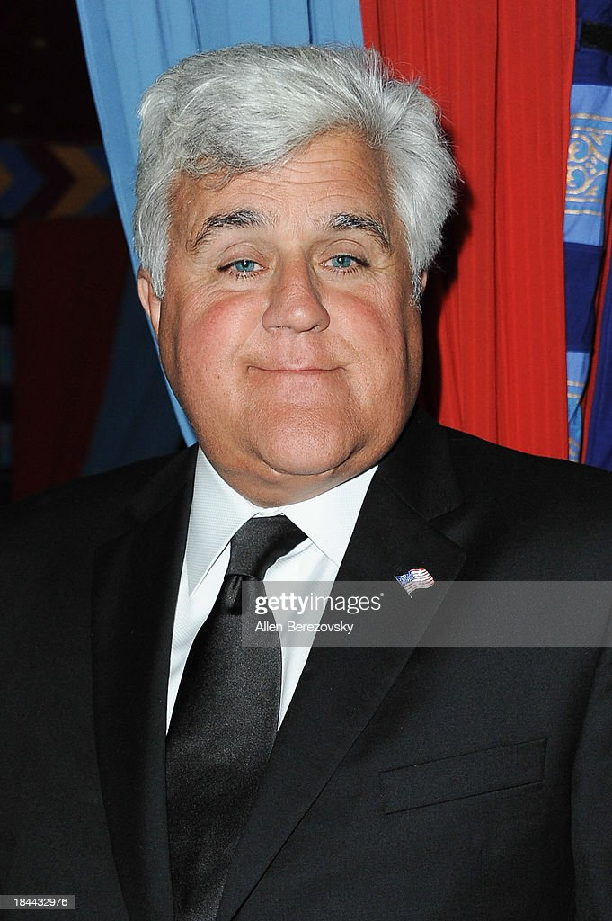 Comedian <a gi-track='captionPersonalityLinkClicked' href=/galleries/search?phrase=Jay+Leno+-+Television+Host&family=editorial&specificpeople=156431 ng-click='$event.stopPropagation()'>Jay Leno</a> attends the 10th annual Alfred Mann Foundation Gala at 9900 Wilshire Blvd on October 13, 2013 in Beverly Hills, California.